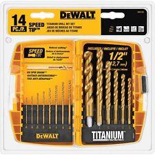 Titanium Drill Bit Set DeWalt 14 pc. DW1341
