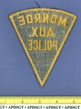 MONROE AUXILIARY POLICE (Old Vintage) INDIANA Sheriff Patch RESERVE MESH