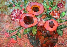 JANET LEO  sfa   ORIGINAL MIXED MEDIA   collage  SUMMER PICKS  floral