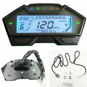 Contagiri digitale LCD Contachilometri per moto Contagiri Tachimetro Gauge -