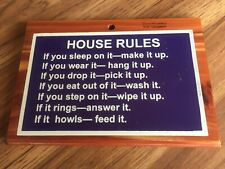 White Mountain Nh Wooden Plaque House Rules
