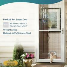 Automatic Cat & Dog Home Lock Pet Screen Door Nylon Mesh Gate Way Close
