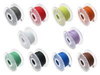S605 - 100m Microlitze Ø 0,28mm verzinnt 10 Farben auf Spule je 10m mini Litze
