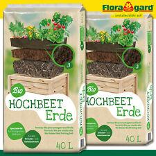 Floragard 2 x 40 l Bio Hochbeet Erde Anzucht Gemüsebeet Kräuter Ernte
