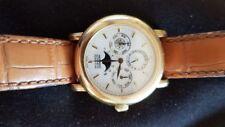 "MOVADO, Armbanduhr, ewiger Kalender, ""1881"", 18 kt Gold, perpetual, Durchm. 36mm"