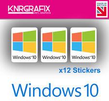 KNR7715 12x Windows 10 Sticker Decal Badge