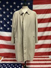 Trench giacca uomo Burberry tg 52 cotone vintage beige Coat Man Size 52