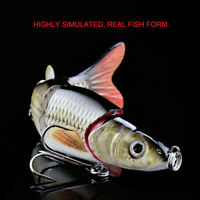"5 Segments Multi Jointed Fishing Lures W/Hook Swimbait Pike Lure Hard Baits 6.5"""