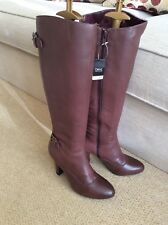 NEXT Buckled Brown Leather Boots, UK 4/37. BNWOB. RRP £85.