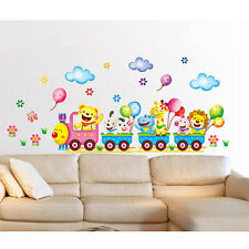 Cute DIY Decals Art Wall Stickers Animals Train Bedroom Decor Baby Kid Gift 1x