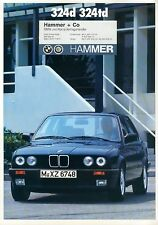 Bmw 324d 324td e30 folleto 1/88 brochure auto folleto auto automóviles car Alemania
