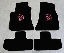 Autoteppich Fußmatten für Dodge Challenger Hellcat ab 2008 Velours pink 4tlg Neu