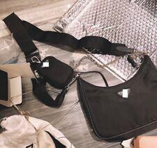 Nylon crossbody shoulder bag small with logo