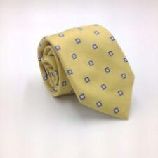 $95 CLUB ROOM Mens YELLOW WHITE BLUE CHECK DRESS NECK TIE CASUAL NECKTIE 59x3.25