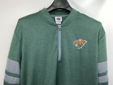 New! Licensed ,  Mens LARGE 1/4-Zip Light  Minnesota Wild  logo jacket