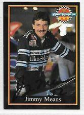 JIMMY MEANS  LEGEND WINSTON CUP Autographed Signed CARD  1991 MCDONALDS