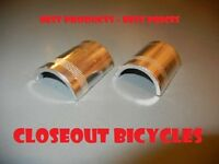 "Bicycle Handlebar Shim Stem Reducer Silver Alloy 22.2mm to 25.4mm (7/8"" to 1"")"