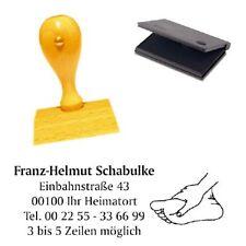 """Timbro indirizzi """"fusspflege"""" con cuscino-timbro di società-podologie"""