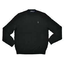 Polo Ralph Lauren Mens Pullover Cable Knit Sweater Crew Neck Pony Logo New Nwt