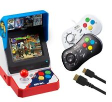 NEOGEO Mini American Version+ 2*Gamepads(White+Black)+HDMI,40 Retro games,Newest