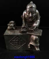 China old Antiques White copper character statue