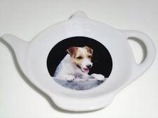 BN Porcelain Dog Tea Bag Tidy, Tea Bag Rest, Jack Russell Gift Tea Bag Rest