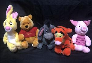 Walt Disney World Winnie the Pooh Bean Bag Winnie Tigger Piglet Rabbit Eeyore