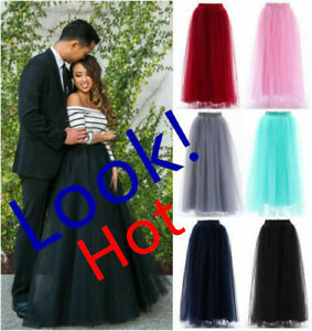 4 Layers Long Wedding Skirt Women Maxi Vintage Petticoat Daily Skirt