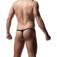Mens Sexy T Back Lingerie Underwear Y-front Briefs Thong Underpants G String Men
