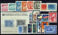 UN - New York 1959-60 Year Sets . Stamps/Sheet (69-87, C6-7) . Mint Never Hinged