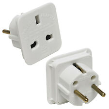 UK to EU Denmark Egypt Finland France Germany Greece Togo Travel Adapter Adaptor