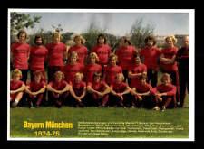 FC Bayern München Mannschaftskarte 1974-75 TOP