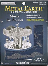 Fascinations Metal Earth 3D Laser Cut Model Kit - Merry Go Round Amusement Ride