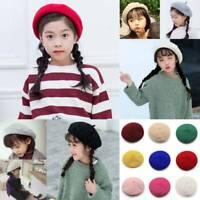 Kids Girls Wool Beret Hat Girls French Warm Classic Artist Hat Beanie Hat Gift