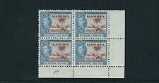 Gambia 1938-46 KGVI ( Sg 156a 1sh3d Elefante y Árbol ) VF Nh Placa Negro / 4