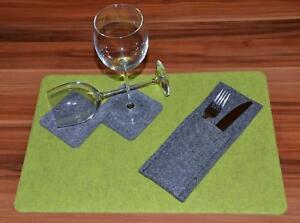 Filz Tischsets / Glasuntersetzer Tischset Platzset Untersetzer Filzset Filz-Kult