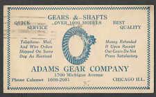 1922 PC CHICAGO IL ADAMS GEAR CO STOCKS OVER 1,000 MODELS