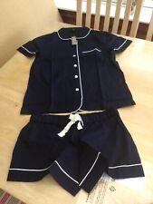 J.Crew Size XS Blue Short Sleeve Pajama Set With Shorts.                d