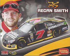 """2016 REGAN SMITH """"GOLDEN CORRAL TBR"""" #7 NASCAR SPRINT CUP POSTCARD"""