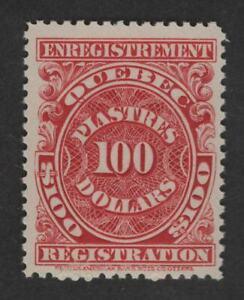 $Canada-Quebec Sc#QR28 M/NH/VF Revenue
