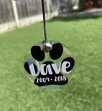 🐾 New Personalised Pet Dog memorial,Pet loss gift/ plaque / Tree Decoration 🐾