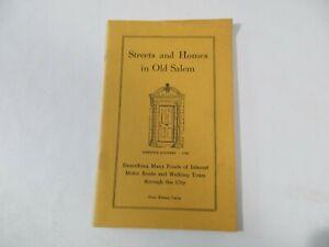 Vintage 1950 Streets & Homes in Old Salem MASS Guide Visitor Travel Booklet~BR2