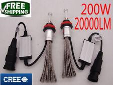2x200W 20000LM CREE LED headlight kit lamp light bulbs H7 H4 H11 H1 white 6000K