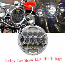 "7"" inch LED Headlight 75W For Road king street glide Ultra Classic Electra glide"