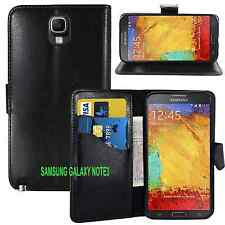 BLACK Wallet Leather Pouch Case Cover For Samsung Galaxy NOTE 3 N9000 N9005 UK