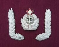 Russian Soviet Navy elements officers uniform. White Ornament and Cap Badge