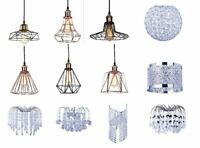 Modern Ceiling Pendant Chandelier Light Acrylic Crystal Drop Lamp Shades