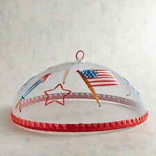4th Fourth of July American Flag Patriotic Food Cover Pier 1 New! Sold Out
