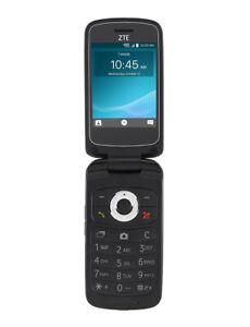 ZTE Cymbal Z-320 - 4GB - Black (T Mobile or Metro PCS) Flip Phone