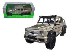 Welly 1:24 Mercedes Benz G 63 AMG 6X6 SUV & Black Wheels Diecast Gold 24061